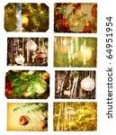 vintage postcards with... | Shutterstock . vector #64951954