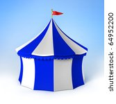 jpeg circus party tent blue and ... | Shutterstock . vector #64952200