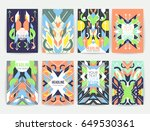 set of geometric abstract... | Shutterstock .eps vector #649530361