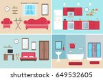 set of vector interiors with... | Shutterstock .eps vector #649532605