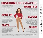 fashion infographic with girl...   Shutterstock .eps vector #649535077