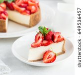 Slice Of Strawberry Cheesecake...