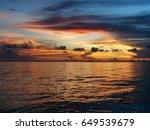 picturesque scene of sunset in... | Shutterstock . vector #649539679
