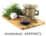 still life spices cracked black ... | Shutterstock . vector #649544671