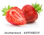 strawberries isolated on a... | Shutterstock . vector #649548019