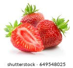 strawberries isolated on a... | Shutterstock . vector #649548025