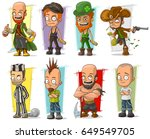 cartoon cool funny different... | Shutterstock .eps vector #649549705