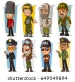 cartoon army soldier policeman... | Shutterstock .eps vector #649549894