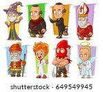 cartoon cool funny different... | Shutterstock .eps vector #649549945