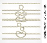 set of different knots and... | Shutterstock .eps vector #649550785