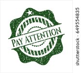 green pay attention rubber...   Shutterstock .eps vector #649554835