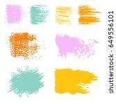 vector set of multicolored...   Shutterstock .eps vector #649556101