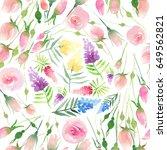 tender delicate cute elegant... | Shutterstock . vector #649562821