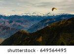 para gliding adventure at... | Shutterstock . vector #649564495