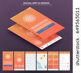 ui design concept for social...