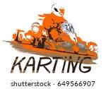 kart racing  logo illustration... | Shutterstock .eps vector #649566907