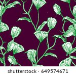 illustration made by ink on... | Shutterstock . vector #649574671