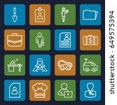 job icons set. set of 16 job... | Shutterstock .eps vector #649575394