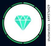 diamond icon vector. flat... | Shutterstock .eps vector #649576429