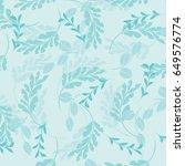 vector seamless pattern flowers ... | Shutterstock .eps vector #649576774