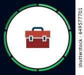 suitcase icon vector. flat...