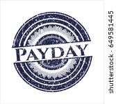 blue payday rubber grunge seal   Shutterstock .eps vector #649581445