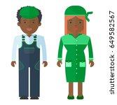 vector african american man and ... | Shutterstock .eps vector #649582567