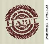 red habit rubber grunge seal   Shutterstock .eps vector #649587655