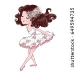 cute girl vector.t shirt... | Shutterstock .eps vector #649594735
