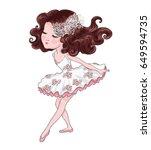 cute girl vector graphic. | Shutterstock .eps vector #649594735