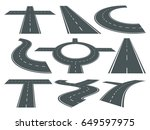 vector set of pathway different ... | Shutterstock .eps vector #649597975
