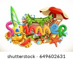 summer beach. summer holiday... | Shutterstock .eps vector #649602631