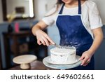 crepe cake decoration | Shutterstock . vector #649602661