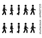 man people various walking... | Shutterstock . vector #649607155