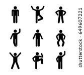 man people various standing... | Shutterstock . vector #649607221