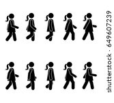woman people various walking... | Shutterstock . vector #649607239