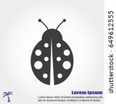 ladybug vector icon | Shutterstock .eps vector #649612555