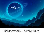 space alien landscape with... | Shutterstock .eps vector #649613875