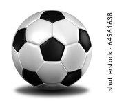 3d rendering of a football.  ... | Shutterstock . vector #64961638