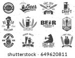 set of craft beer badges with... | Shutterstock .eps vector #649620811