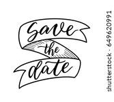 save the date sign. ribbon... | Shutterstock .eps vector #649620991