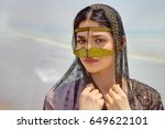 close up portrait of an iranian ... | Shutterstock . vector #649622101