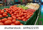 vegetables in a cash and carry... | Shutterstock . vector #649622155