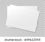 vector realistic blank paper... | Shutterstock .eps vector #649622545