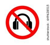 no headphones icon. | Shutterstock .eps vector #649628515