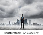 faceless businessman with... | Shutterstock . vector #649629679
