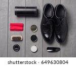Shoe Polish Set With Black...