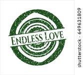 green endless love distressed...   Shutterstock .eps vector #649631809