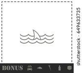 shark fin icon flat. simple... | Shutterstock .eps vector #649633735