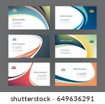 set of 6 professional and... | Shutterstock .eps vector #649636291